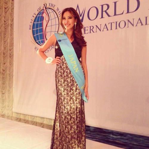 Beauty of the world2013 日本代表としてキリギスタンでコンテストに出場
