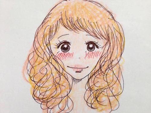 少女漫画のヒロインのピュアなキュン顔