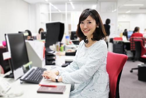 宣伝部の素敵女子、熊谷さん
